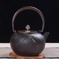 铁壶仿日本南部铸铁壶半面佛生铁壶烧水壶茶具茶壶煮茶器烧水铁壶电陶炉套装日本老铁茶壶茶具