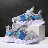【1件2折折后�r:56元】富�F�B童鞋2021新款夏季�和��W鞋透�饩W面�\�有�女童����跑步鞋