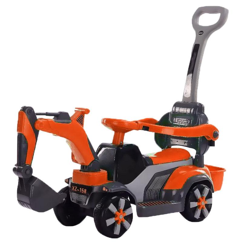 儿童挖掘机可坐可骑大号电动挖土机钩机男孩玩具车滑行工程车  送帽子铲子电池螺丝刀海洋球