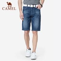 骆驼男装 2019夏季新款青年休闲宽松薄款牛仔短裤男士潮流五分裤