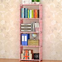 实用书架置物架层架 落地儿童书橱 五层书架 自由组装