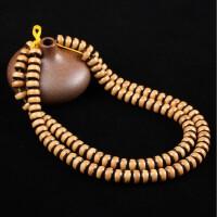 天然橄榄核镶嵌椰壳108颗手链素珠桶珠手串文玩饰品