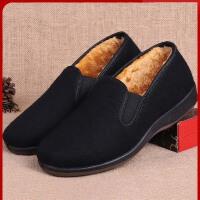 老北京布鞋冬天男款棉鞋中老年套脚爸爸棉鞋老人鞋舒适软底老头鞋