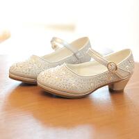 公主鞋女童皮鞋礼服表演高跟鞋儿童鞋
