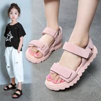 女童凉鞋夏季中大童沙滩鞋女孩小公主儿童鞋