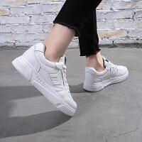 网红小白鞋透气学生女鞋百搭平底休闲鞋2019春季韩版运动鞋女板鞋 白色 H005K