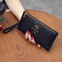 韩版长款女士钱包仿真皮多功能皮夹简约拉链手拿包钱夹