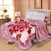 结婚11斤加大加厚保暖拉舍尔毛毯被子冬季双人盖毯双层珊瑚绒毯子y 200cmx230cm(11斤)