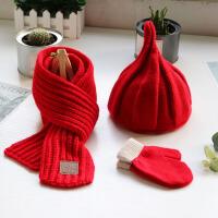 儿童帽子围巾秋冬季手套小宝宝1-4岁男孩女童保暖套头帽围脖
