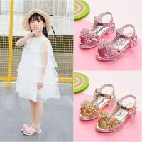 女童凉鞋新款韩版夏季水钻时尚公主鞋中大童小女孩儿童鞋软底