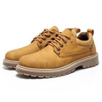 新款男鞋英伦风复古马丁靴时尚休闲鞋潮流低帮工装鞋大头鞋