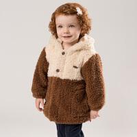 davebella戴维贝拉童装冬季新款女童外套宝宝卡通保暖上衣DB11463