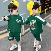 童装男童短袖套装夏装衣宽松帅气儿童洋气两件套