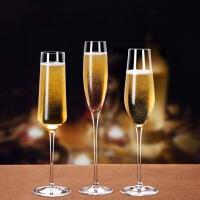 水晶高脚杯2个香槟杯套装家用创意葡萄酒杯情侣结婚对杯酒杯一对