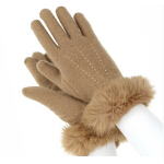 韩版女士羊毛时尚保暖手套  骑车加厚加絨手套女