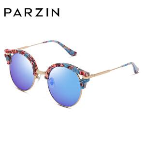 帕森时尚太阳镜女士猫眼复古板材炫彩膜潮女墨镜驾驶镜 9713A