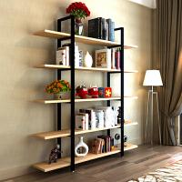 隔断书架置物架实木屏风落地展示书柜现代层架 客厅收纳储物搁板层架花架铁艺