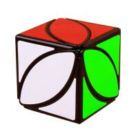 三叶草不规则异形魔方玩具叶子魔方手感顺滑p 枫叶魔方(黑底)+送底座+教程