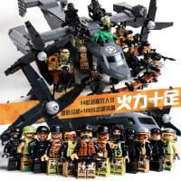 �犯呋�木男孩子军事系列坦克飞机装甲战车基地人仔儿童拼装玩具