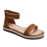18新款罗马凉鞋女夏季韩版学生软妹简约一字带平底凉鞋子