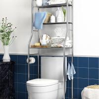 浴室置物架 可调底脚浴室收纳架壁挂厕所洗手间洗衣机固定贴马桶架子落地式