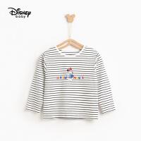 【2件3折价:47.7】迪士尼童装2020新款春装女童长袖T恤洋气春秋宝宝女孩打底衫上衣专柜同款