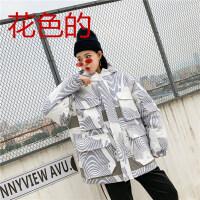 女冬季新款韩版原宿宽松学生面包服女中长款港风加厚棉衣
