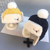 宝宝帽子冬季儿童雷锋帽加绒保暖护耳帽男女小孩童加厚帽子时尚潮