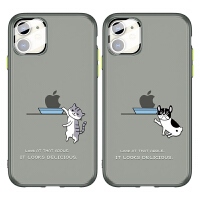 iphone11手机壳苹果11promax潮透明超薄磨砂11PRO卡通猫高档自带玻璃镜头膜11maxpro网红同款全包