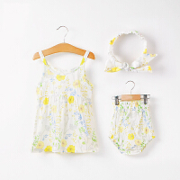棉果果儿童夏季裙子宝宝女童夏季外出吊带裙