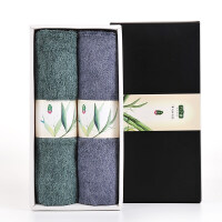 毛巾礼盒 竹浆纤维毛巾2条礼盒套装*礼盒装毛巾
