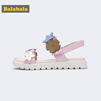 巴拉巴拉小童凉鞋女新款夏季韩版平底鞋时尚公主鞋软底鞋童鞋