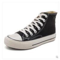 高帮帆布鞋女学生韩版百搭鞋子潮鞋网红透气原宿板鞋