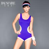 【书香节】范德安新款镂空剪裁连体泳衣 魔力紫色温泉游泳衣
