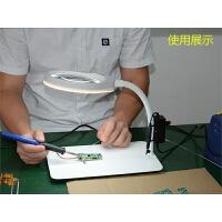 台式放大镜带灯PD032C高清3倍5倍8倍10倍20倍PCB手机焊接印刷老年人阅读绘画纺织雕刻桌面LED放大镜台灯