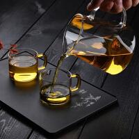 茶杯260ML高硼硅玻璃��嘴茶海公道耐高���意玻璃茶�啬�岣�夭�