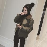 2019新款加厚短款小棉衣韩国冬季显瘦女装仿羊羔毛外套棉袄面包服反季