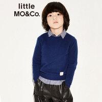littlemoco儿童套头毛衣秋冬款男女童纯山羊绒长袖套头针织衫