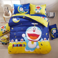 卡通四件套儿童公主风床上三4件套1.5米网红床单被罩1.8m 白色 星空