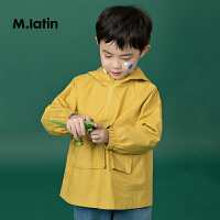 【2件2折后到手价:108元】马拉丁童装男童风衣大口袋设计连帽外套中长款春装