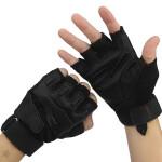 户外运动骑行手套黑鹰羊皮半指手套训练战术军迷手套