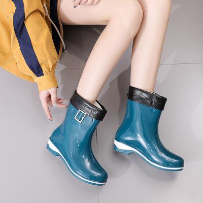 雨鞋女短筒韩国可爱胶鞋时尚款外穿水鞋雨靴防水胶鞋套鞋防滑