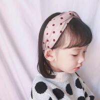 儿童甜美波点发箍宽边压发小孩防滑百搭可爱女童公主头箍发卡
