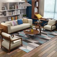 北欧布艺沙发组合日式客厅沙发转角 三人组合韩式日式现代简约办公室沙发