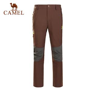 骆驼户外男款软壳长裤防风保暖男士秋冬软壳裤