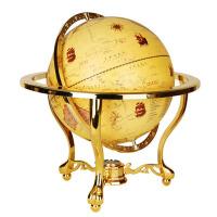 办公室客厅书房复古地球仪摆件32cm立体高清仿古欧式地球仪