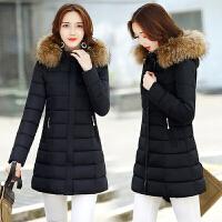 新年特惠棉衣中长款女士棉袄女装冬装新款冬季棉袄2019新款加厚毛领羽女中长款修身大码外套