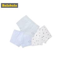 巴拉巴拉中大童内裤男儿童短裤男童平角面包裤棉学生四角裤三条装