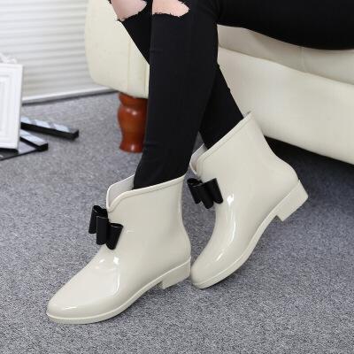 春夏女士雨鞋韩版雨靴韩国花朵低筒短筒水鞋套鞋胶鞋