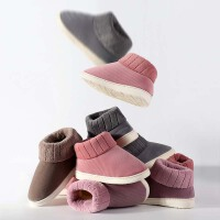 男士棉拖鞋女冬季居家室内包跟防滑加绒厚底保暖家用老人棉鞋大码